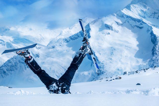 Avantages et risques du ski alpin : chute