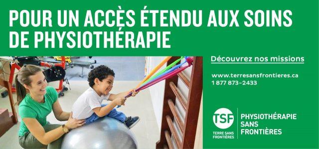 Bannière publicitaire: Physiothérapie sans frontière