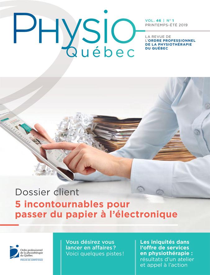 Couverture Physio-Québec printemps-été 2019