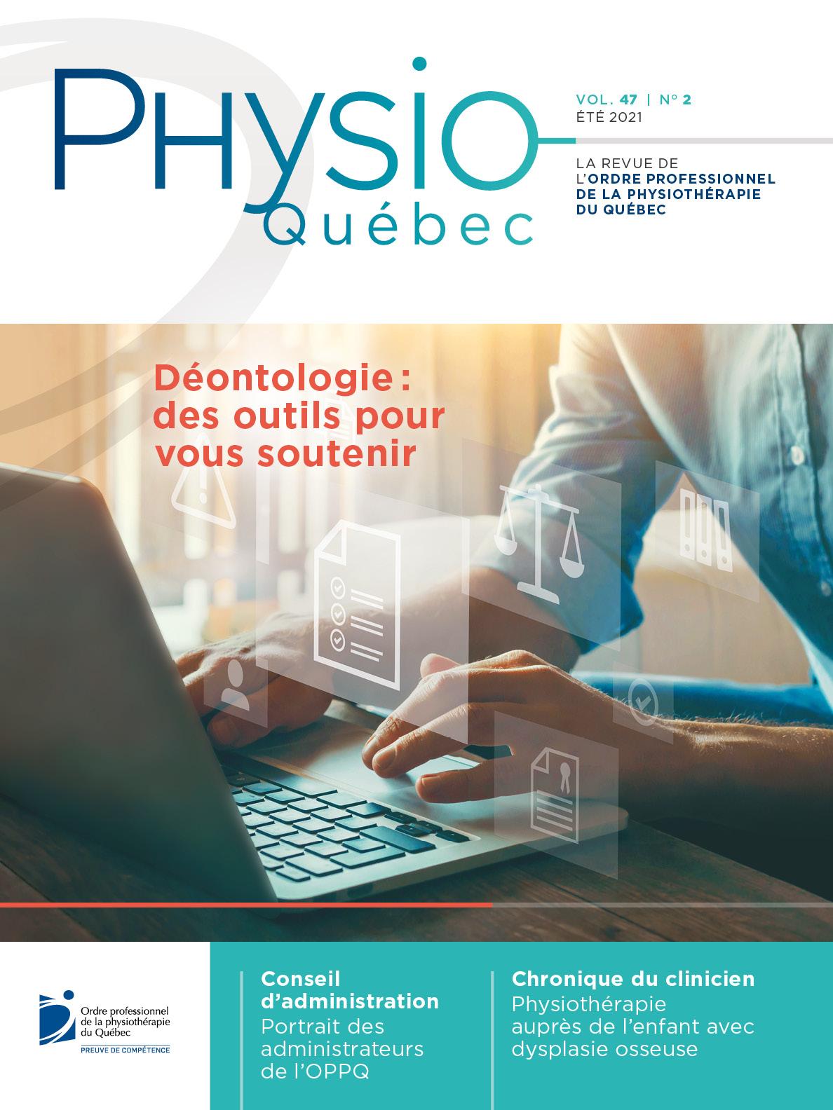 Couverture du Physio-Québec | Été 2021