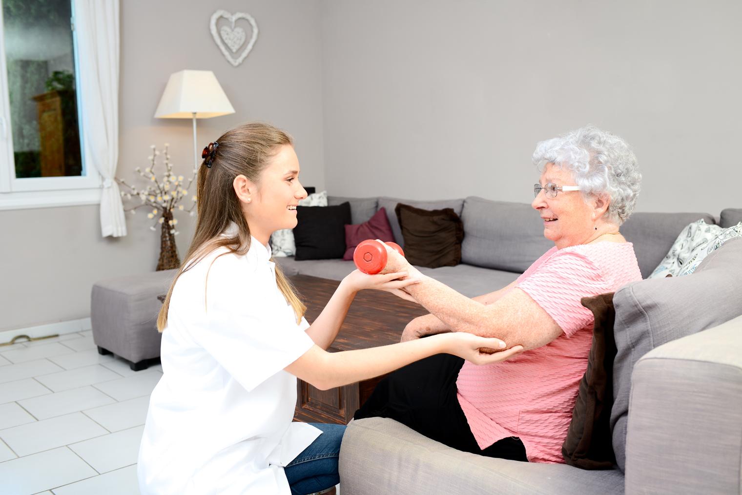 Physiothérapie a domicile chez les personnes âgées