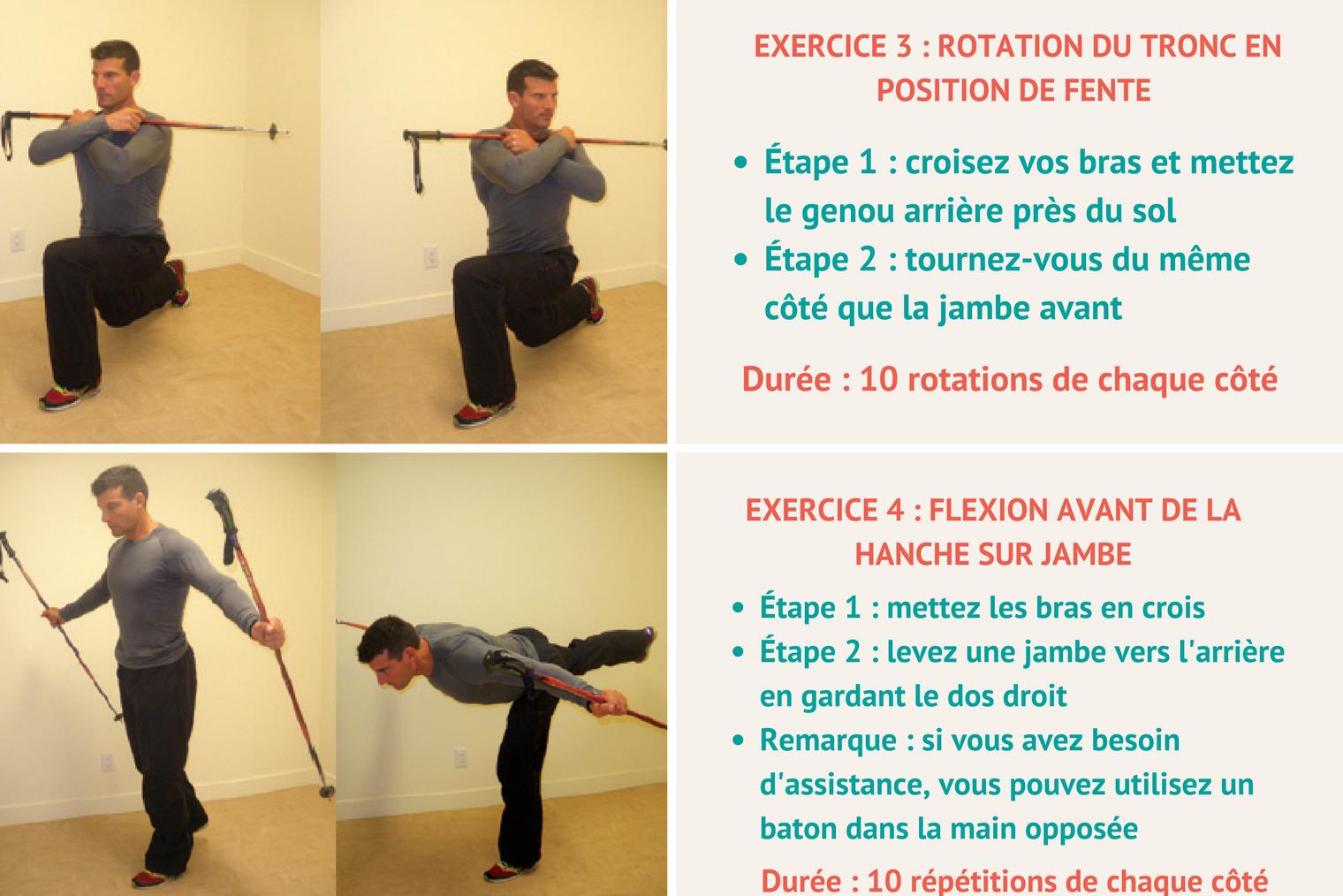 Ski alpin et préparation physique : exercice 2