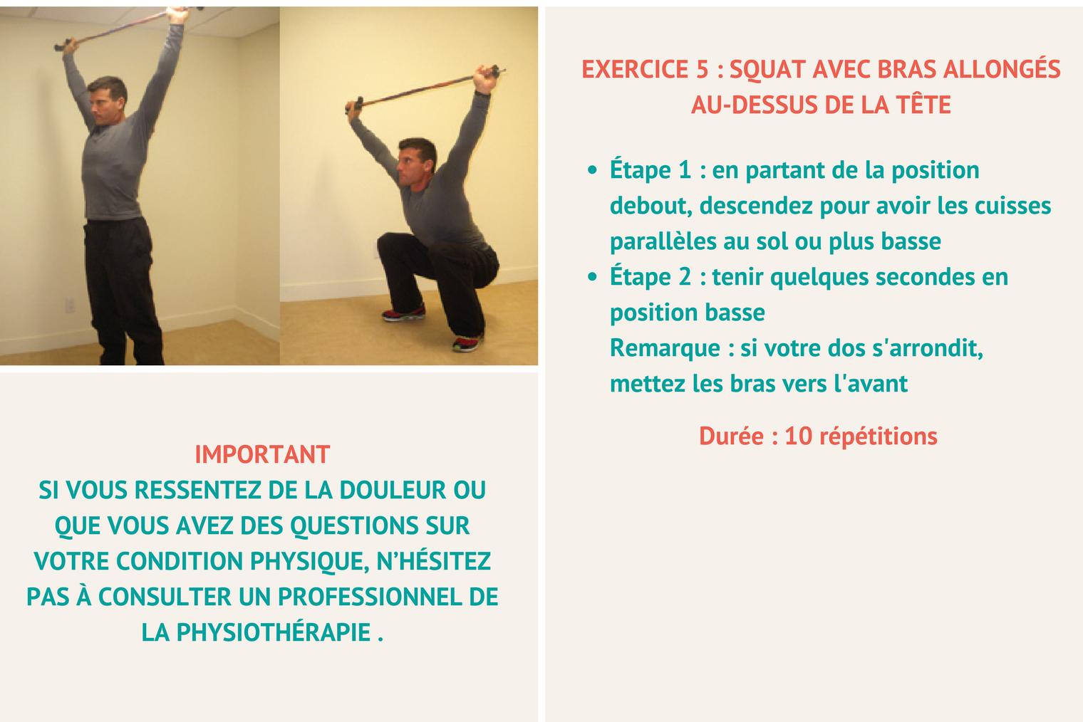 Ski alpin et préparation physique : exercice 3