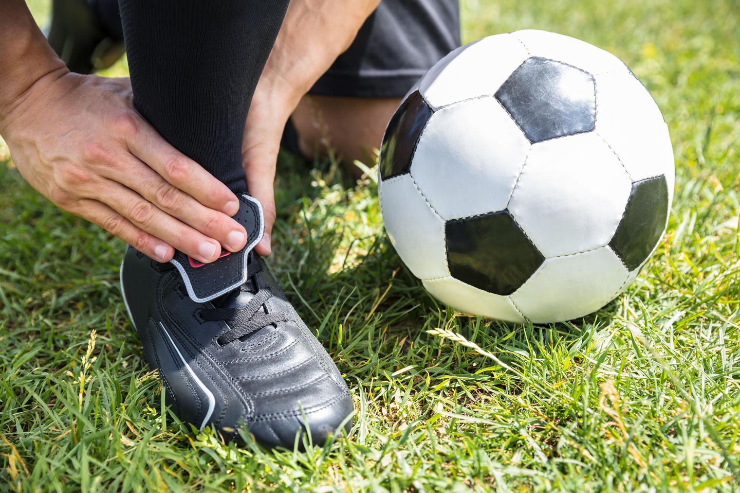Soccer et entorse à la cheville