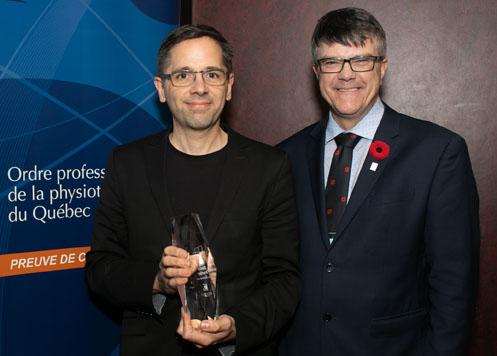 Denis Fortier, pht, reçoit le prix Excellence 2019 - physiothérapeute
